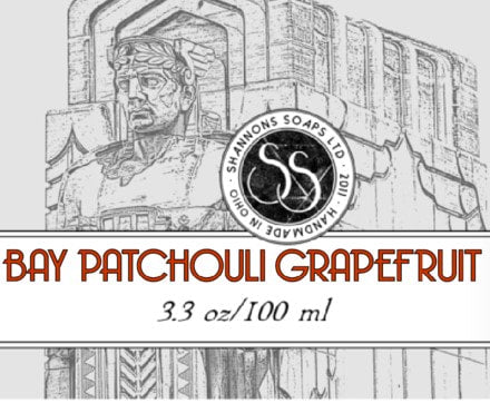 Shannon's Soaps Soothing Post Shave Splash- Bay Patchouli Grapefruit