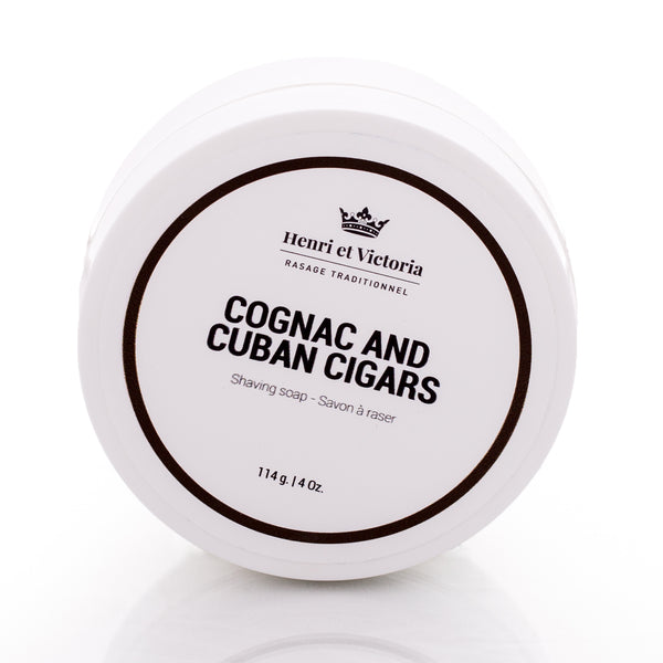 Henri et Victoria Handmade Shaving Soap- Cognac and Cuban Cigars