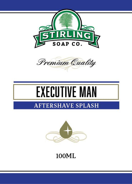 Stirling Soap Company Executive Man Aftershave Splash