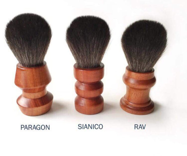 Paragon Shaving Brush- BLS3-Rav Black Synthetic Brush Handle 25mm