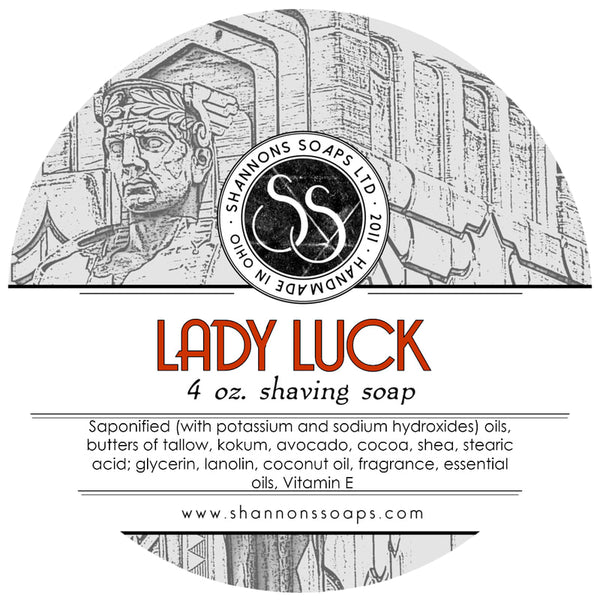 "Shannon's Soaps Ltd. Shaving Soap  ""Lady Luck"""