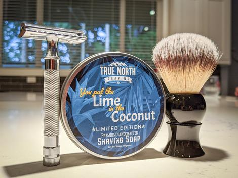 "True North Shaving Co. Shave Soap- ""You Put the Lime in the Coconut"""