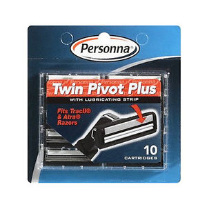 Personna Twin Pivot Plus Cartridges- For Trac II and Astra Razors