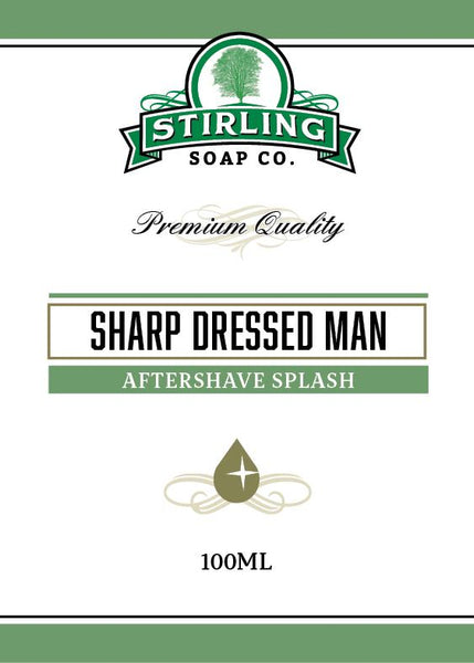 Stirling Soap Company Sharp Dressed Man Aftershave Splash