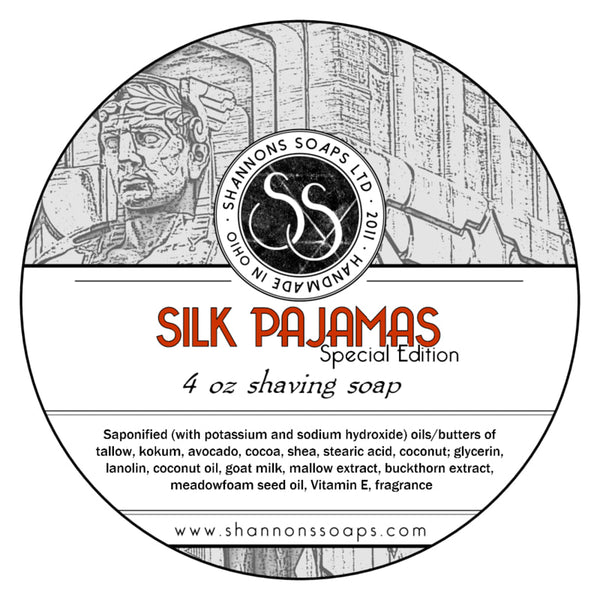 "Shannon's Soaps Ltd. Shaving Soap  ""Silk Pajamas"""
