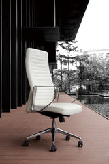 Dart Executive Leather Swivel Office Chair White