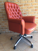 Manhattan Executive Leather Swivel Office Chair Red