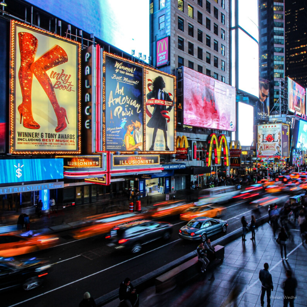 Broadway in Times Square NYC Theatre District