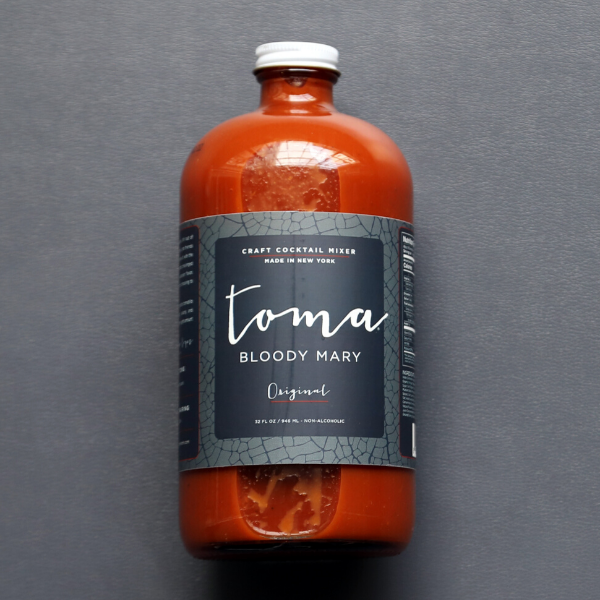 Toma Bloody Mary Bottle with Tomatillo Label Design