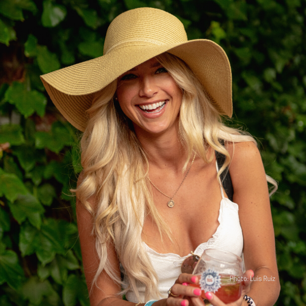Blonde Girl with Sun Hat
