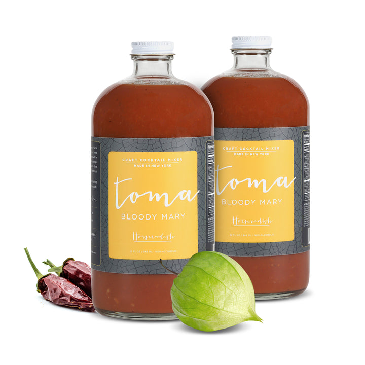 Toma Bloody Mary Mixer - Horseradish (32oz) 2-PACK - Toma Bloody Mary Mixers