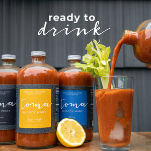 Toma Bloody Mary Mixer - Variety Pack - Original/Mild (32oz) 2-PACK - Toma Bloody Mary Mixers