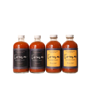 Toma Bloody Mary Mixer - Variety Pack - Original/Horseradish (8oz) 4-PACK - Toma Bloody Mary Mixers