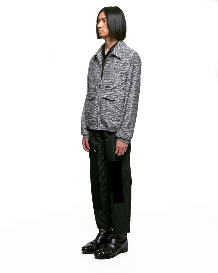 PINSTRIPE SUITING PATCHWORK TROUSER