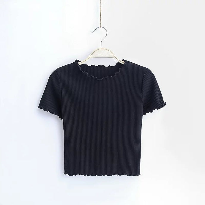 Vintage O neck Short sleeve T-shirt / Slim Fit t shirt