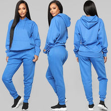 Ladies sport hoodie long sleeve outfit 2 Piece with Casual Sport pants
