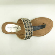 Women Sandals Fashion Leopard Flats  6-11
