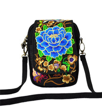 Western Vintage Floral Embroidered Cross-body Zip Bag