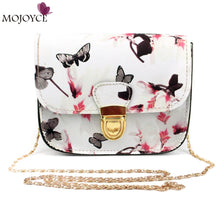 Leather Flower Printing Women Messenger Bag