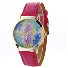 Women's Quartz Watch Fashion Neutral pineapple Patterns in 8 Colors