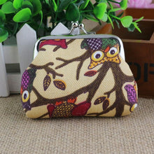 Owl Pattern Woman Coin Clutch