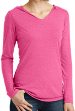 Ladies  Lightweight Hoodie V-neck Tee
