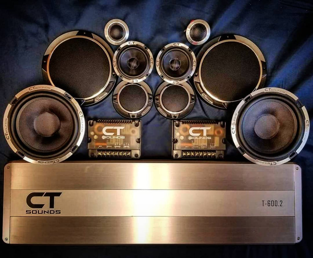 Car Audio 3-Way Component Speaker Set by CT Sounds