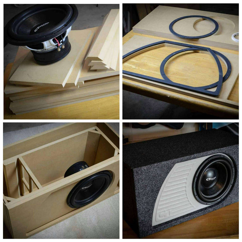 Single 12 Inch PORTED Subwoofer Box Design Box Designs- CT Sounds Car Audio
