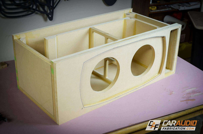 Dual 8 Inch PORTED Subwoofer Box Design Box Designs- CT Sounds Car Audio