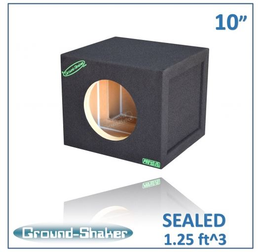 "Black 10"" Single Sealed Reinforced Sub Box Subwoofer Box- CT Sounds Car Audio"