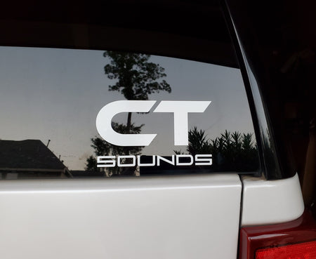 (2) Pack of CT Sounds Decals Decal- CT Sounds Car Audio