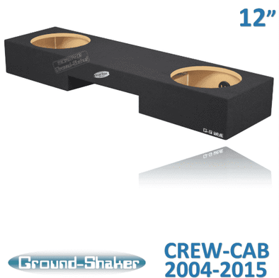 "Black 12"" Dual Sealed Sub Box, Fits Nissan Titan Crew-Cab 2004-2017 Subwoofer Box- CT Sounds Car Audio"