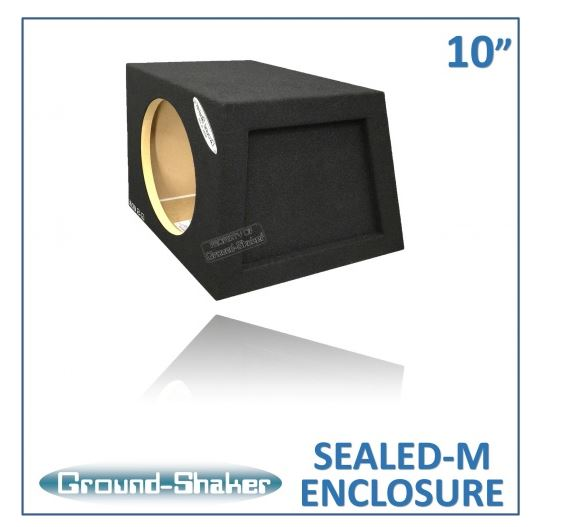 "Black 10"" Single Sealed Mid-Size Hatchback Sub Box 12 Inch Subwoofer Box- CT Sounds Car Audio"