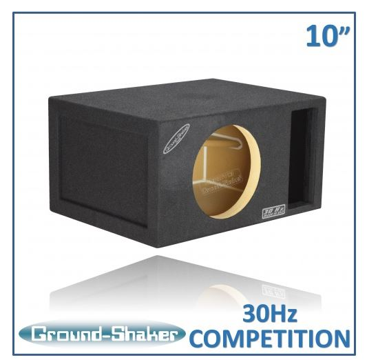 "Black 10"" Single Competition Ported Sub Box 12 Inch Subwoofer Box- CT Sounds Car Audio"