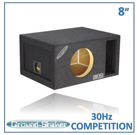 "Black 8"" Single Competition Ported Sub Box 12 Inch Subwoofer Box- CT Sounds Car Audio"