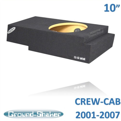 "Fits Chevy Silverado & Gmc Sierra Crew-Cab 2001-2006 10"" Single Sealed Sub Box Subwoofer Box- CT Sounds Car Audio"