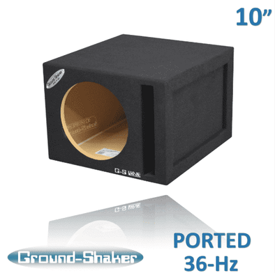 "Black 10"" Single Ported Sub Box Subwoofer Box- CT Sounds Car Audio"