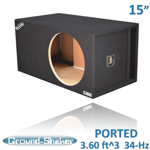 "15"" SINGLE VENTED SLOT PORTED SUB BOX Subwoofer Box- CT Sounds Car Audio"