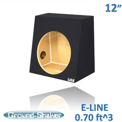 Ground Shaker T112 12-Inch Single Sealed Regular Truck Enclosure Subwoofer Angled Box Subwoofer Box- CT Sounds Car Audio