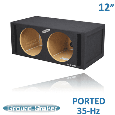 Dual 12 Inch 35 Hz Ported Box Subwoofer Box- CT Sounds Car Audio