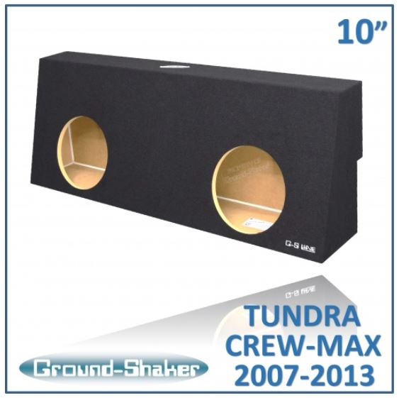 "BLACK 10"" DUAL SEALED SUB BOX, FITS TOYOTA TUNDRA CREW-MAX 2007-2013 Subwoofer Box- CT Sounds Car Audio"