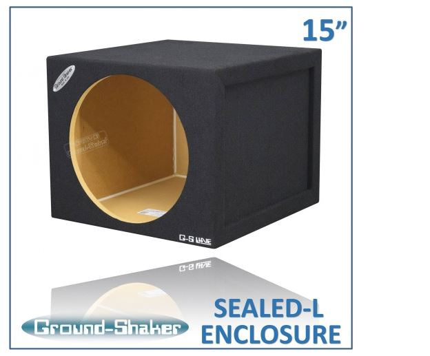 "Black Large 15"" Single Sealed Sub Box Subwoofer Box- CT Sounds Car Audio"