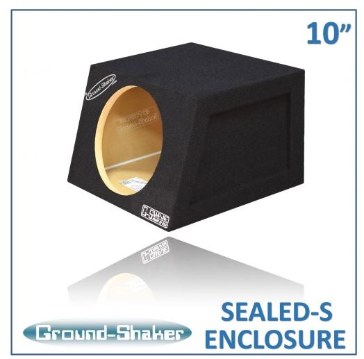 "Black 10"" Single Sealed Compact Sub Box Subwoofer Box- CT Sounds Car Audio"