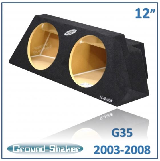 "12 ""SEALED BLACK DOUBLE DRAWER FOR INFINITY G35 FROM 2003 TO 2008 Subwoofer Box- CT Sounds Car Audio"
