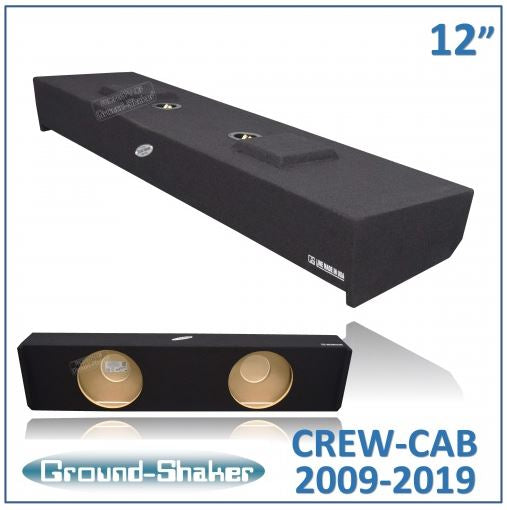 "Black 12"" Dual Sealed Sub Box, Fits Ford F-150 Crew-Cab 2009-2019 Subwoofer Box- CT Sounds Car Audio"
