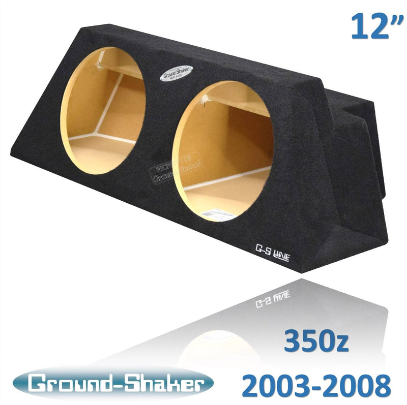 "BLACK 12"" DUAL SEALED SUB BOX, FITS NISSAN 350Z COUPE 2003-2008 Subwoofer Box- CT Sounds Car Audio"