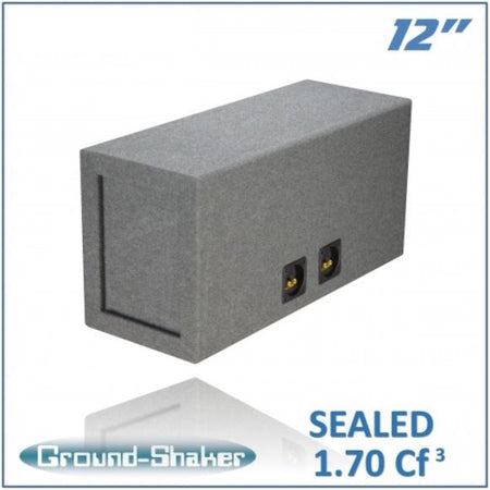 "Gray 12"" Dual Sealed Sub Box Subwoofer Box- CT Sounds Car Audio"
