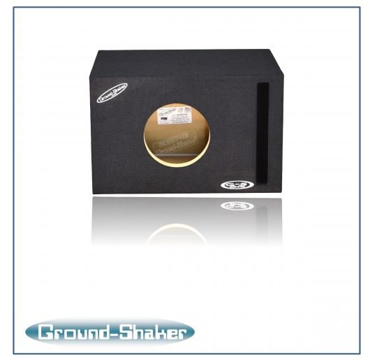 Single 8 Inch Reinforced Ported Box Subwoofer Box- CT Sounds Car Audio