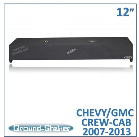 "Black 12"" Dual Sealed Sub Box, Fits Chevy Silverado & Gmc Sierra Crew-Cab 2007-2013 Subwoofer Box- CT Sounds Car Audio"