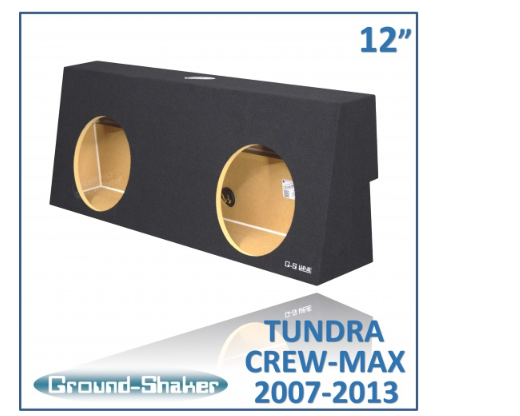 "Black 12"" Dual Sealed Sub Box, Fits Toyota Tundra Crew-Max 2007-2013 Subwoofer Box- CT Sounds Car Audio"
